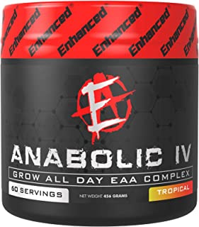 Enhanced Labs Anabolic IV Essential Amino Acid EAAS & BCCA Supplement Powder (60 Serving) – Muscle Pump & Nitric Oxide Boo...