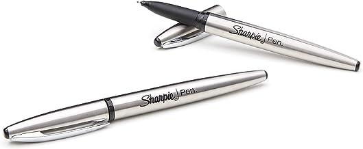 Sharpie Stainless Steel Grip Pen, Fine Point (0.8mm), Black, Box of 12 (2067430)