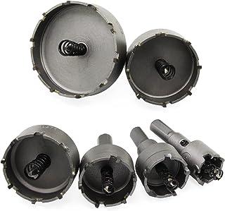 HSeaMall 6PCS Agujero vio el kit de broca de corte de diente Kit de broca de carburo de acero de alta velocidad Set 22/30/35/45/50/65mm 6PCS