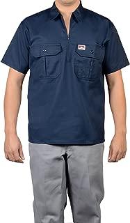 Men's Half-Zip Button Pocket Short Sleeve Work Shirt