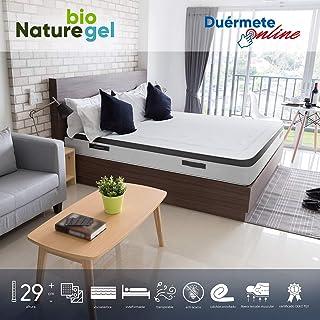 Duérmete Online - Colchón Viscoelástico Nature Biogel | Altura 29cm | Confort Máximo | Tejido Termorregulador, 90x190
