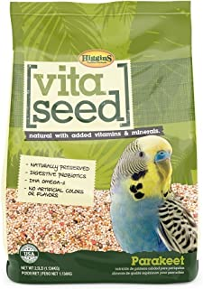 Higgins Vita Seed Natural Parakeet Food 2.5 LB Bag