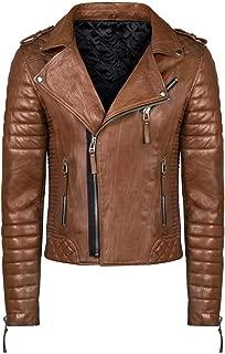 Brand Me Men's Genuine Leather Pure Lambskin Biker Jacket MM001