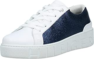 Tommy Hilfiger Glitter Dress Women's Sneakers, White 100