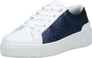 Tommy Hilfiger Glitter Dress Women's Sneakers, White 100
