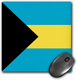 3dRose 8 x 8 x 0 25 Inches Flag of the Bahamas islands Bahamian Blue Yellow Gold Stripes Black Triangle Country World Souv...