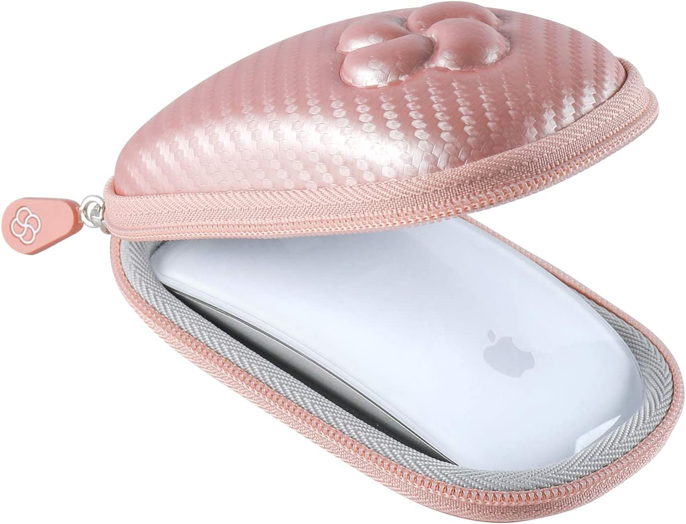 Koonice Hard Case Compatible for Apple Magic Mouse (I and II 2nd Gen) Including Carabiner (Rose Gold)