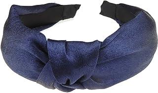 Glamour Girlz, Diadema para mujer, diseño de nudo superior, color azul marino