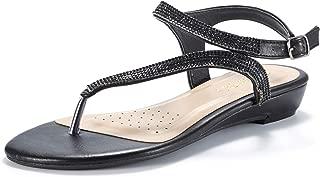Women's Estelle_W Fashion Rhinestones Low Wedge Sandals