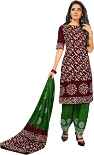 ladyline Ethnic Batik Printed Salwar Kameez Suit Casual Womens Indian Dress