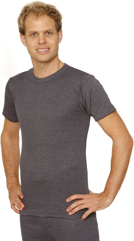 Octave 2 Pack Mens Thermal Underwear Short Sleeve T-Shirt/Vest/Top