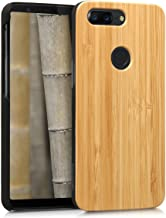 kwmobile Wood Case Compatible with OnePlus 5T - Protective Natural Solid Hard Wooden Cover
