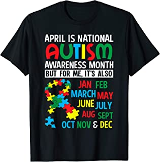 April is National Autism Awareness Month T Shirt Gift