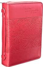 Pink «todo es posible» Bible / Book Cover (Forro para Biblia) - Matthew 19:26 (Medium) (Spanish Edition) (English and Spanish Edition)