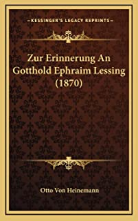 Zur Erinnerung An Gotthold Ephraim Lessing (1870)