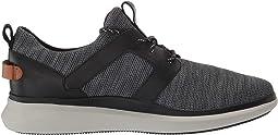 Black Leather/Textile Combinat