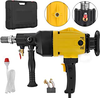 Happybuy Diamond Core Drilling Machine 6 Inch 160 mm Handheld Diamond Core Drill Rig Variable Speed Wet Dry Core Drill Rig for Diamond Concrete Drilling Boring(6