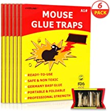 Liverland Mouse Trap, Mouse Glue Traps Sticky Mouse Traps with Large Size for Mice Ant Cockroach Scorpion Spider Indoor and Outdoor, Best and Easy Use, Safe and Non Toxic.