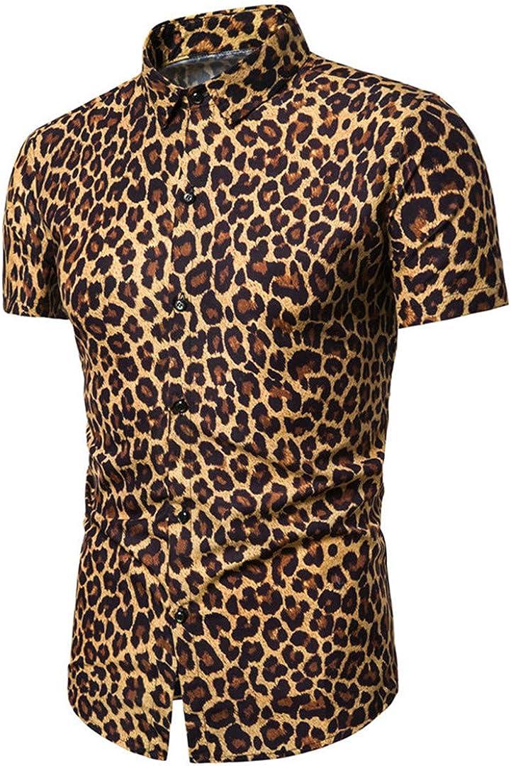 Vintage Shirt Men 5% OFF Short Sleeve Popular popular Summer Social Print Casual Mens S