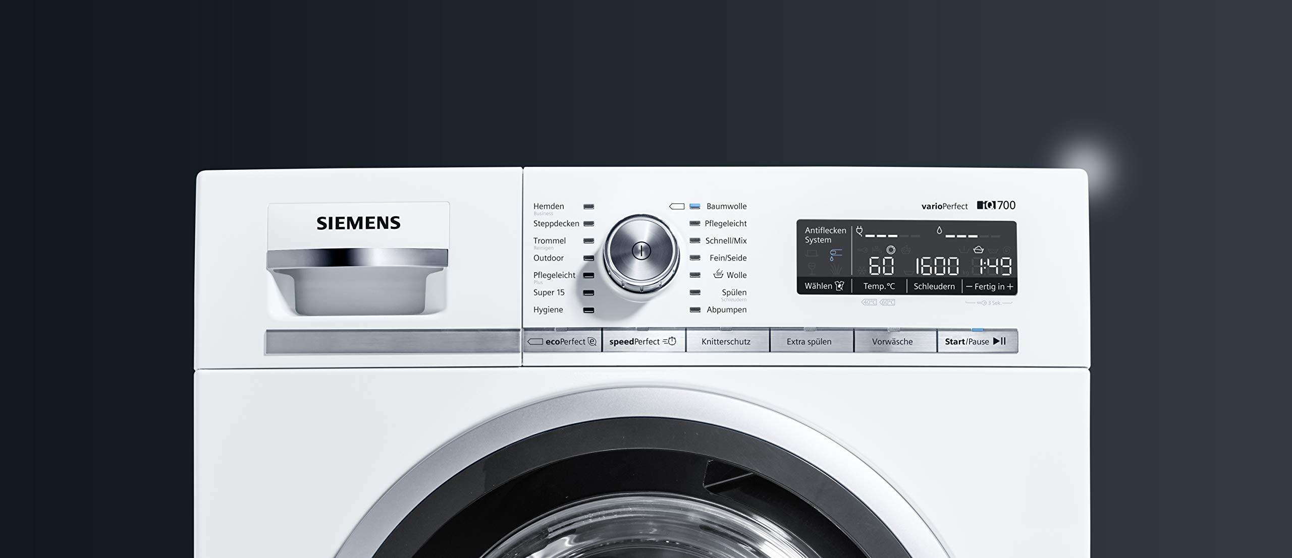 Siemens WM16W540 - Lavadora (Independiente, Color blanco, Frente ...