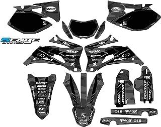 Senge Graphics kit compatible with Yamaha 2007-2014 WR 250F, Apache Matte Grey (MATTE FINISH) Complete Graphics Kit