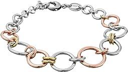 Tri-Tone Circle Bracelet