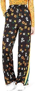 Project 28 NYC   Printed Varsity-Stripe Pants   Black Floral