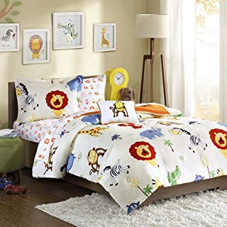 MIZONE MZK10-083 Mi Zone Kids Safari Sam Complete Bed and Sheet Set Twin Multi