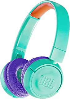 JBL JR300BT Kids Wireless Bluetooth On-Ear Headphones – with Safe Sound Limited Volume to Protect Small Ears – in Tropical...