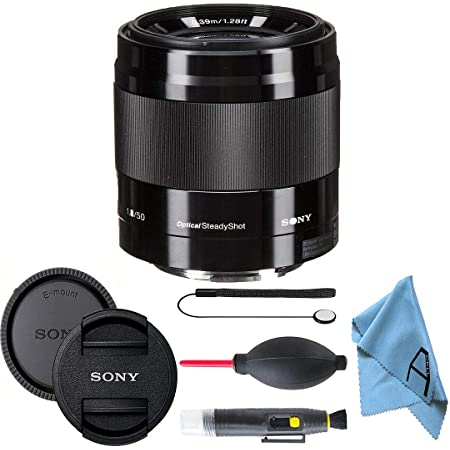 Sony E 50mm F/1.8 OSS E-Mount Lens with A-Cell Accessory Bundle (Black)