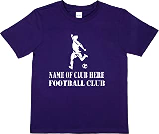 Print4u Personalised T-Shirt Name of Club Here Football