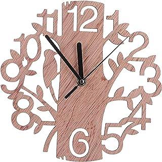 Tree Shaped Wall Clock, Wood Decorations Housewarming Clocks, for Office, Living Room, Bedroom