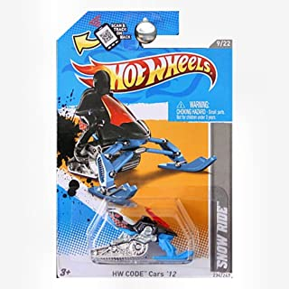 Hot Wheels 2012 HW Code Cars Snow Ride Snowmobile Snow Mobile Blue and Orange