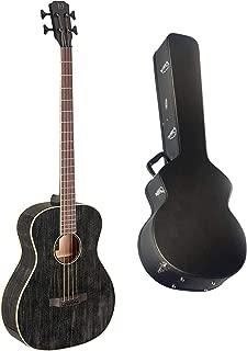 $659 » 4-String Acoustic/Electric Bass Guitar w/Case, Yakisugi Series - Black