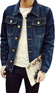 61ea9ba6a39 Chiffoned Solid Casual Slim Mens Denim Jacket Plus Size S-4XL 5XL Jacket  Men Cowboy
