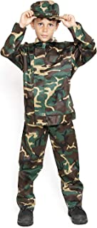 Kids Boys Army Military Camo Camouflage California Soldier Halloween Costumes