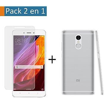 Pack 2 En 1 Funda Gel Transparente + Protector Cristal Templado ...