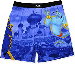 Aladdin Genie Jafar Mens Briefly Stated Boxer Lounge Shorts