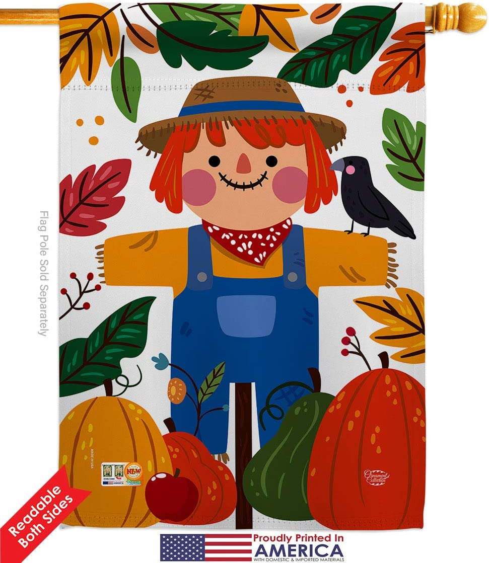 Ornament Collection H192135 P3 Sweetie Scarecrow Fall Harvest Autumn Impressions Decorative Vertical 28 X 40 House Flag Printed In Usa Multi Color Garden Outdoor
