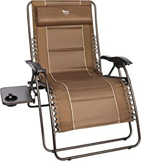 """TIMBER RIDGE XXL Oversized Zero Gravity Chair, Full Padded Patio Lounger with Side Table, 28"""" Wide Reclining Lawn Chair, S..."""