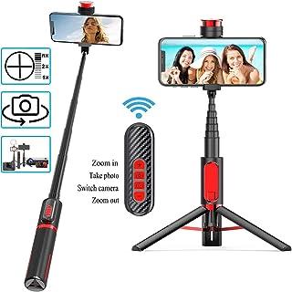 Babacom Palo SelfieTrípodecon Control Remoto BluetoothparaEnfoqueCambiar la Lente3 en 1 MonopieExtensiblepara iPhone11/X/XSSamsung GalaxyS5/S6Huawei P30/Mate30etc