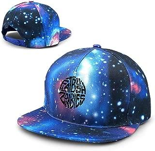 Unisex Flatbush Zombies Galaxy Cotton Hip Hop Snapback Flat Brim Hat Adult Dad Baseball Caps Blue