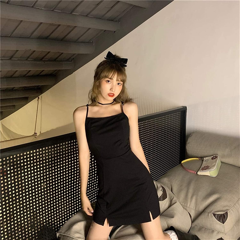 Zzx Black Suspender Dress Women's 2021 New Spring Bag Hip Short Skirt Waist was Thin and Temperament Small Skirt (Size : Small)