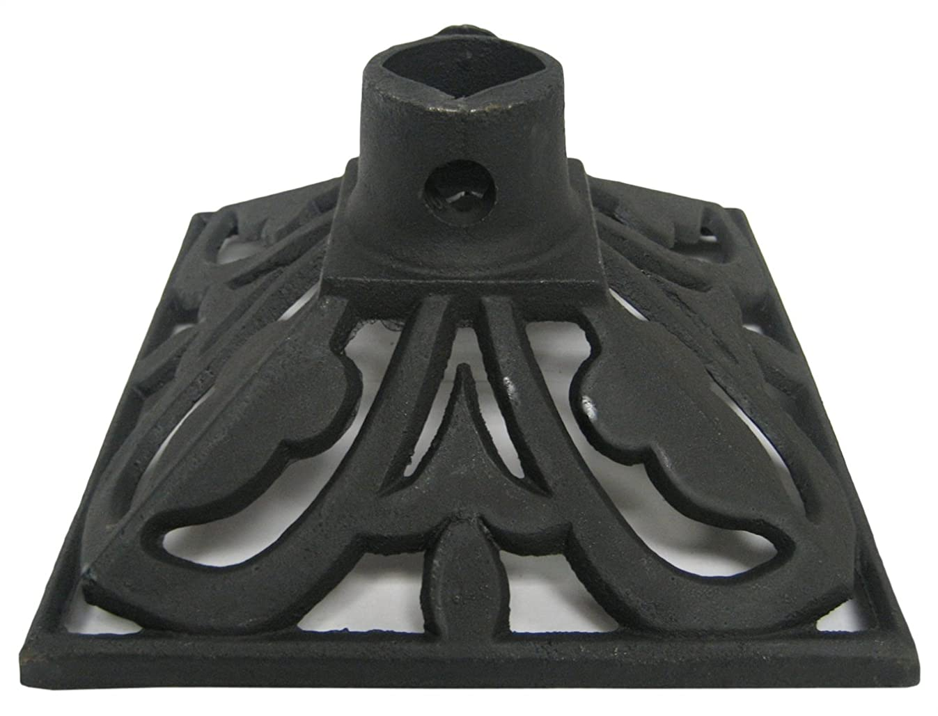 TIKI Brand Cast Iron Torch Stand, Black, 9.1L x 9.1W x 4.8H -Inches