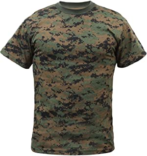 a9f79829651 New Woodland Digital Camouflage Marines Tactical Military Short Sleeve  T-Shirt