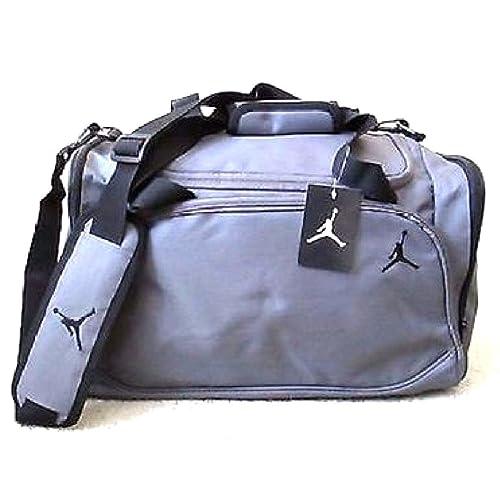 ed25d4ffdc28ba Nike Jordan Mens Basketball Gym Duffel Duffle Bag Gray Grey Style 8A1215-783