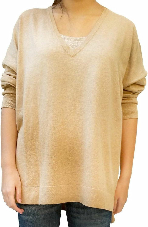 Gap V Neckline Silk Blend Camel color Medium Weight Sweater XXL
