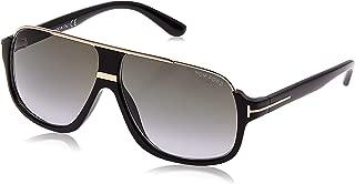 Elliot Sunglasses in Shiny Black Gradient Green FT0335S 01P 60