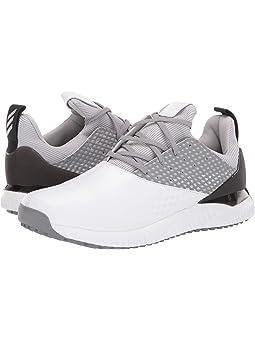 아디다스 남성 골프화 adidas Golf adicross Bounce 2,White/Silver Metallic/Grey Two