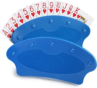 LotFancy Playing Card Holder for Kids Seniors, Plastic Hands Free Cards Holders for Canasta, Poker Parties, Family Card Game Nights